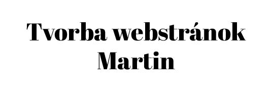 tvorba webstránok martin